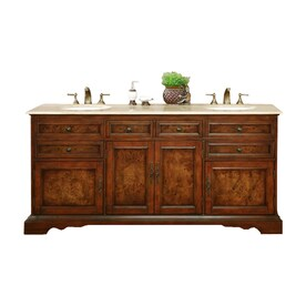 Shop rustic vanities at for Rustic bathroom vanities lowes