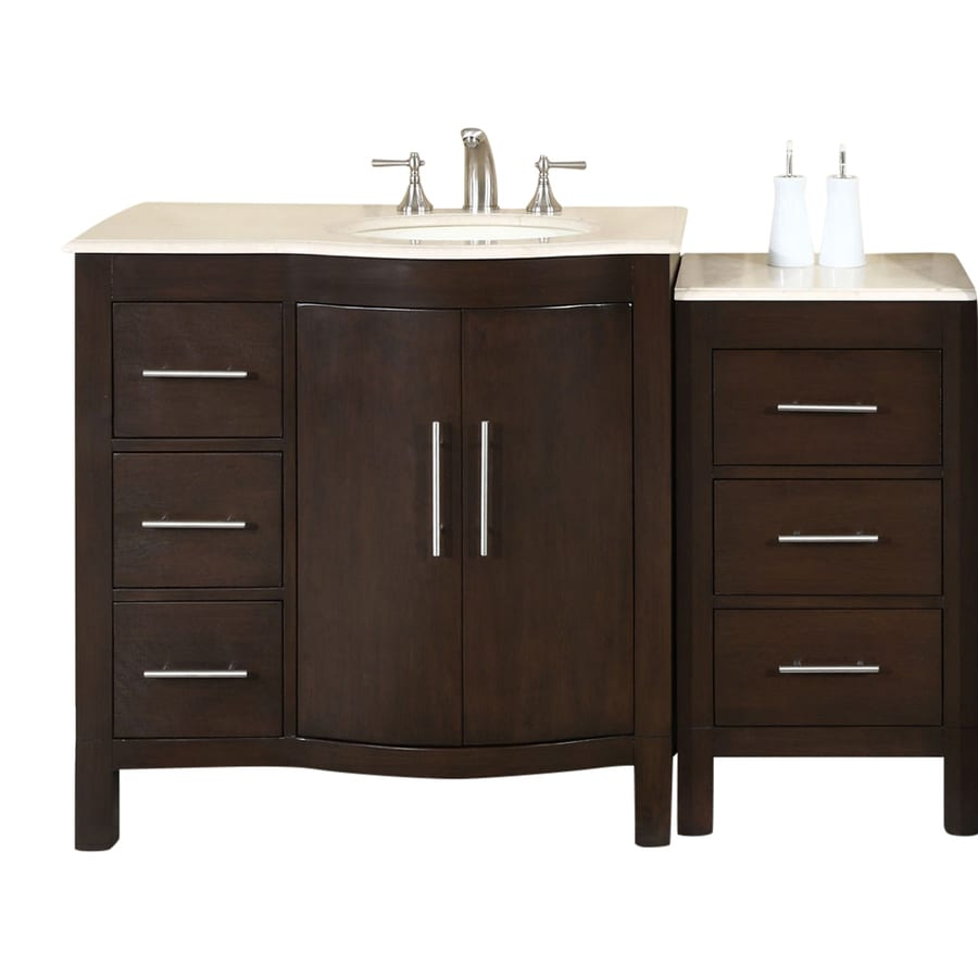 Bath Vanities With Tops : Shop silkroad exclusive kimberly dark walnut undermount