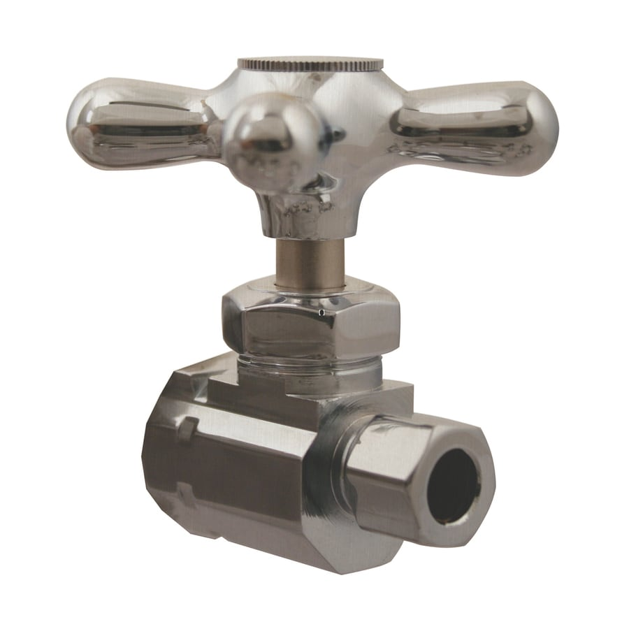 Westbrass Brushed Nickel Straight Valve