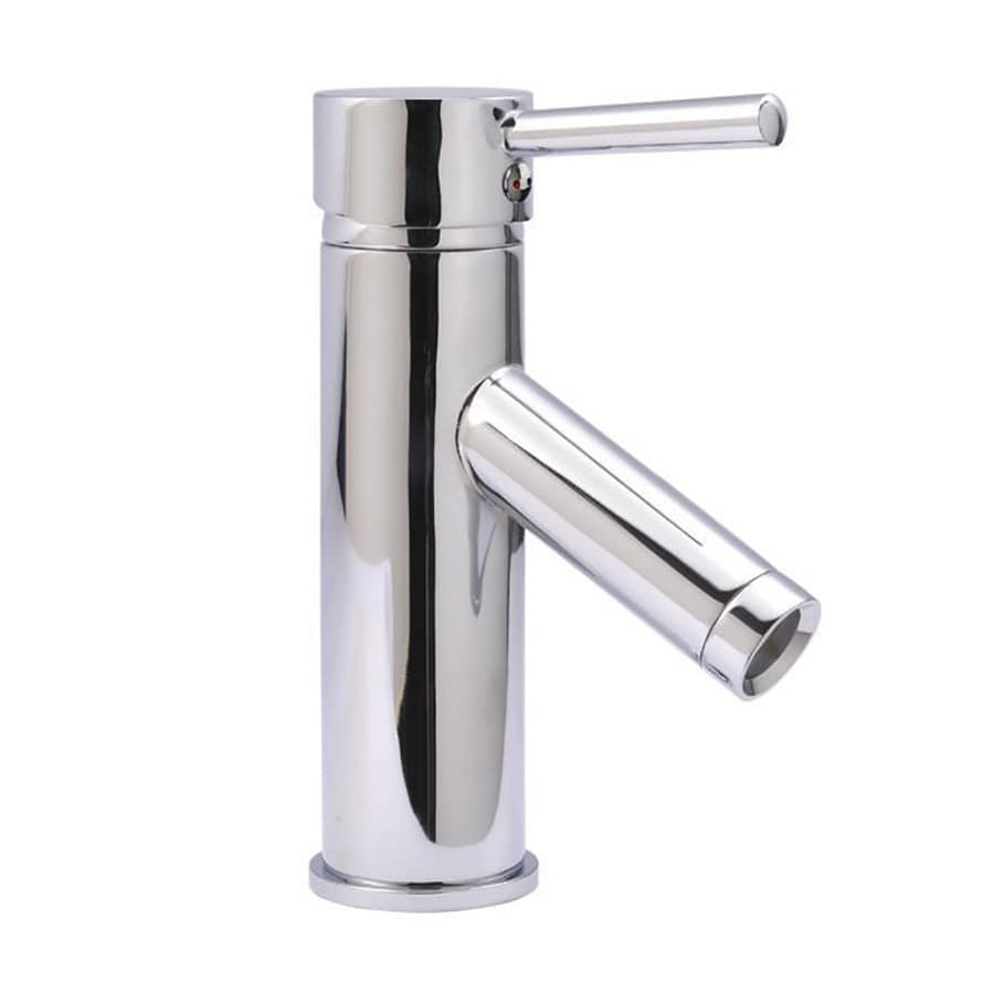 Virtu USA Chrome 1-Handle Single Hole Bathroom Faucet