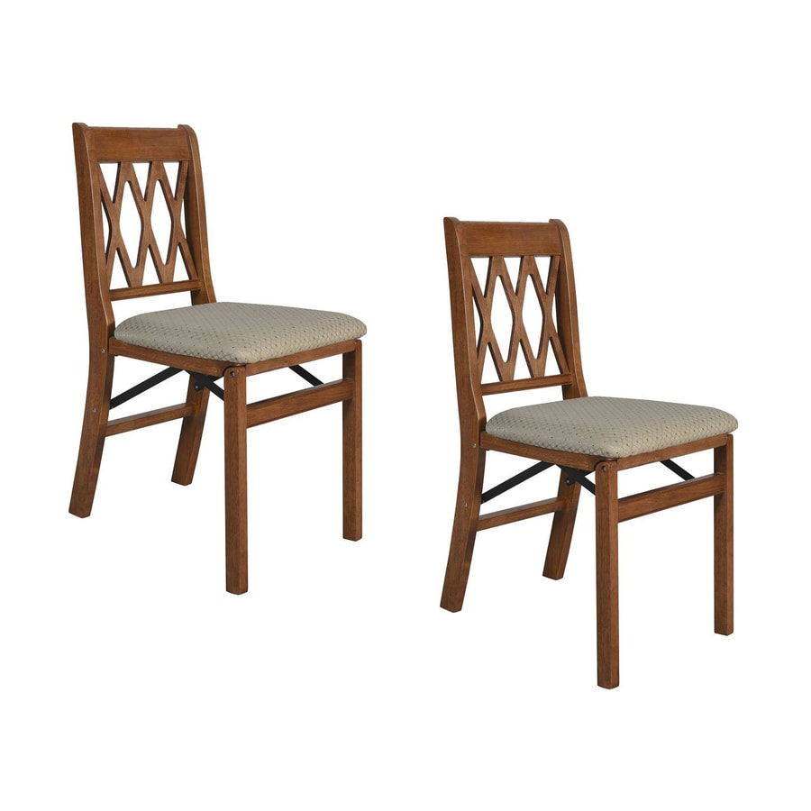 Stakmore 2-Pack Indoor Wood Cherry Standard Folding Chairs