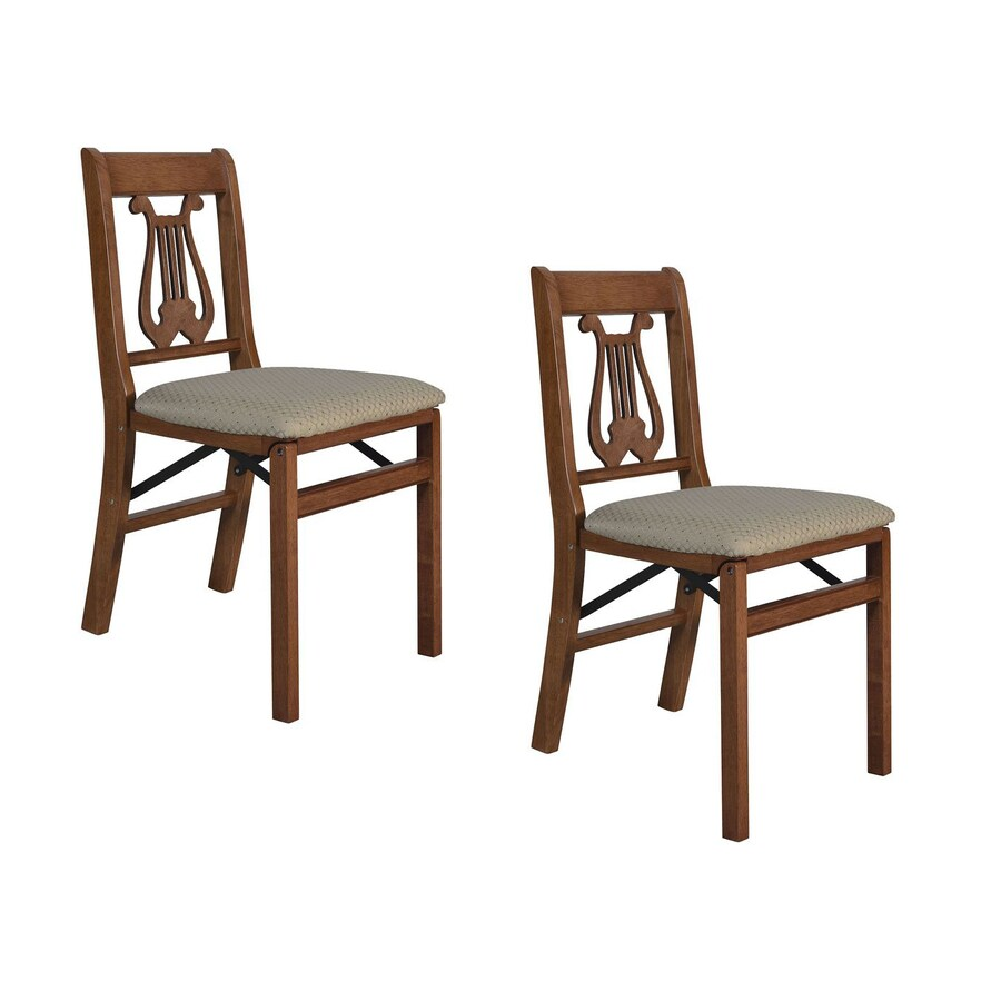 shop stakmore 2 pack indoor wood cherry standard folding chairs at