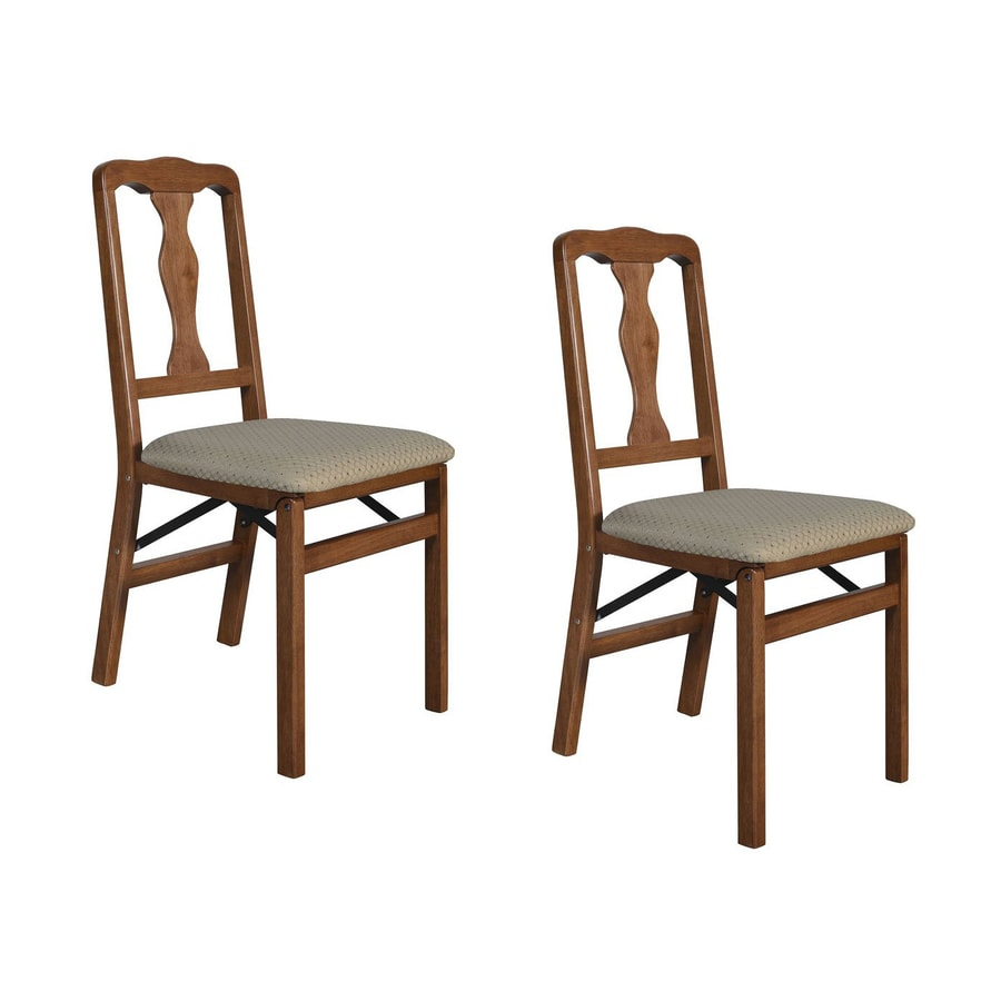 Stakmore 2 Pack Indoor Wood Cherry Standard Folding Chairs