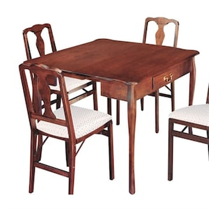 Prime Stakmore Cherry Wood Extending Dining Table At Lowes Com Caraccident5 Cool Chair Designs And Ideas Caraccident5Info