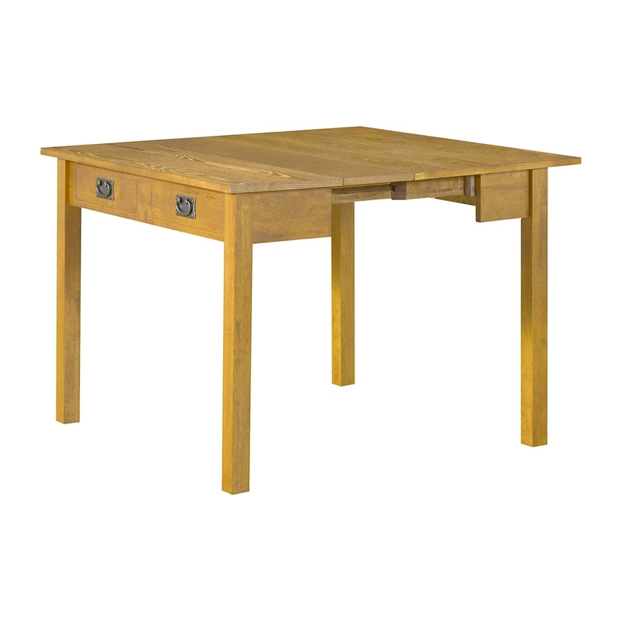 Shop stakmore oak wood extending dining table at for Shop dining tables