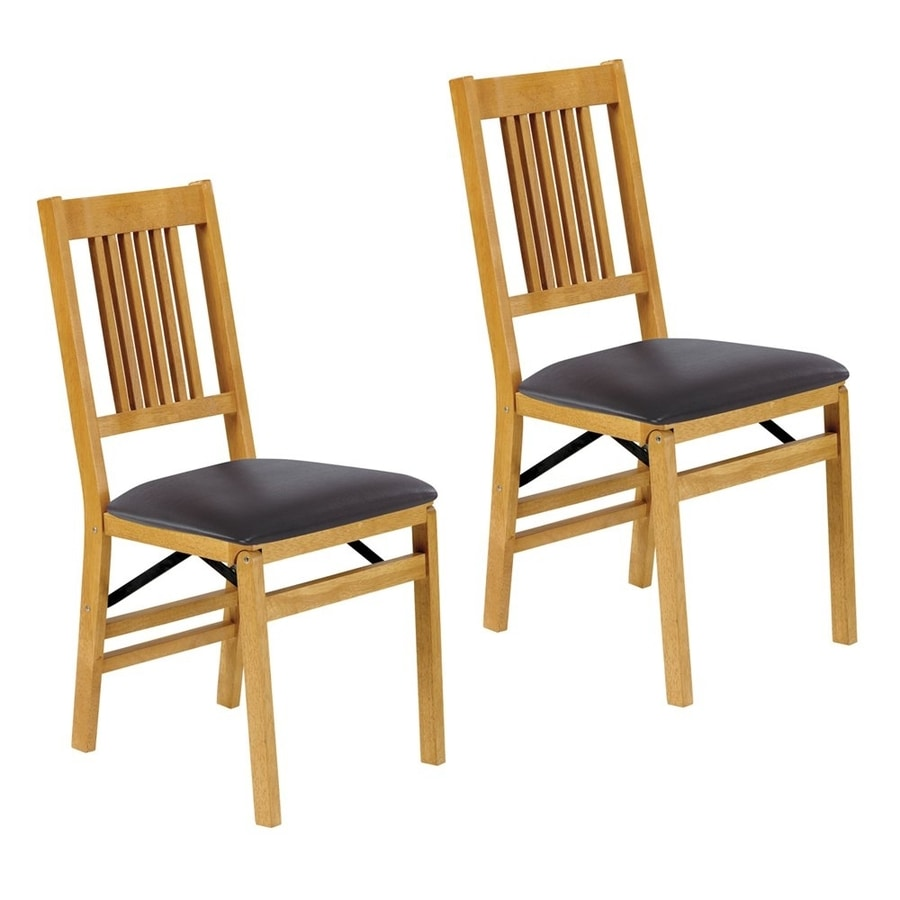 Stakmore Set of 2 Oak Side Chairs