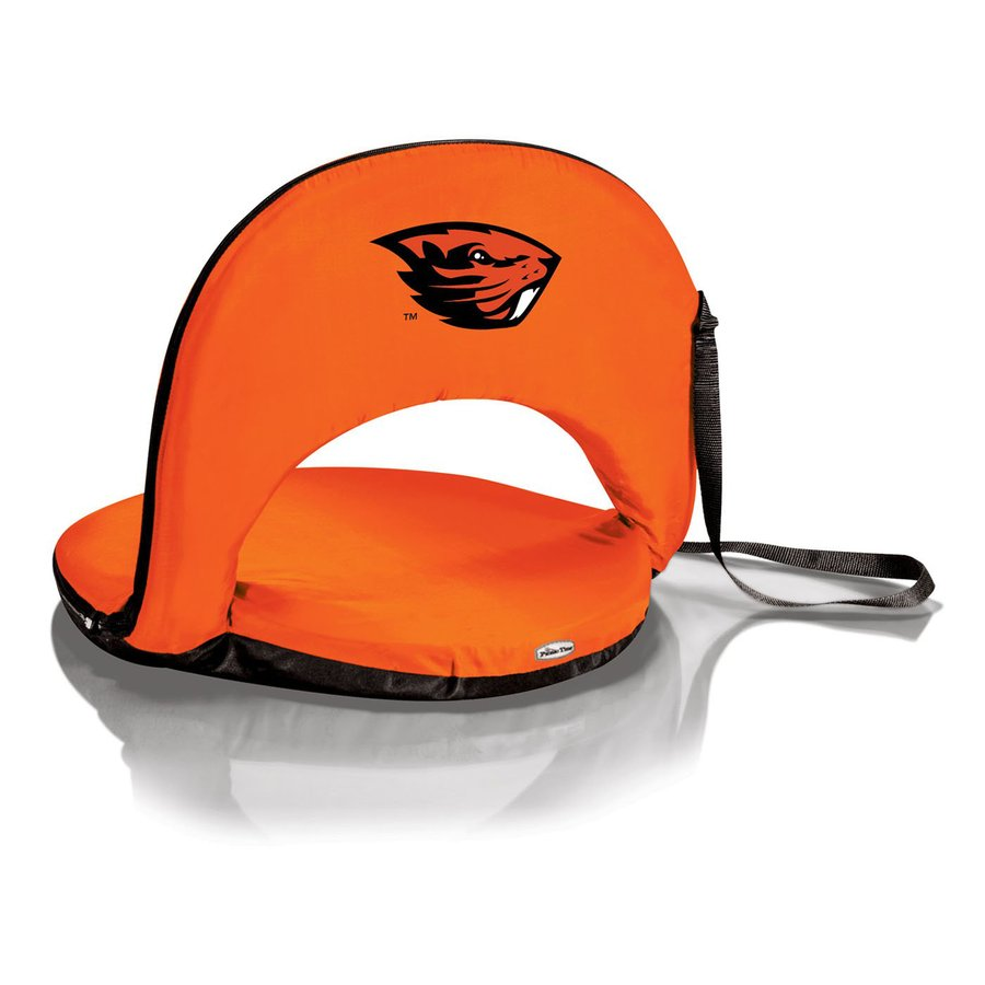 Picnic Time Indoor/Outdoor Steel Oregon State Beavers Bleacher Folding Chair