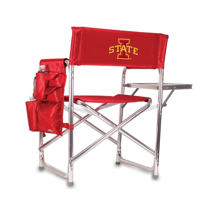 Picnic Time Red NCAA Iowa State Cyclones Aluminum Folding Camping Chair