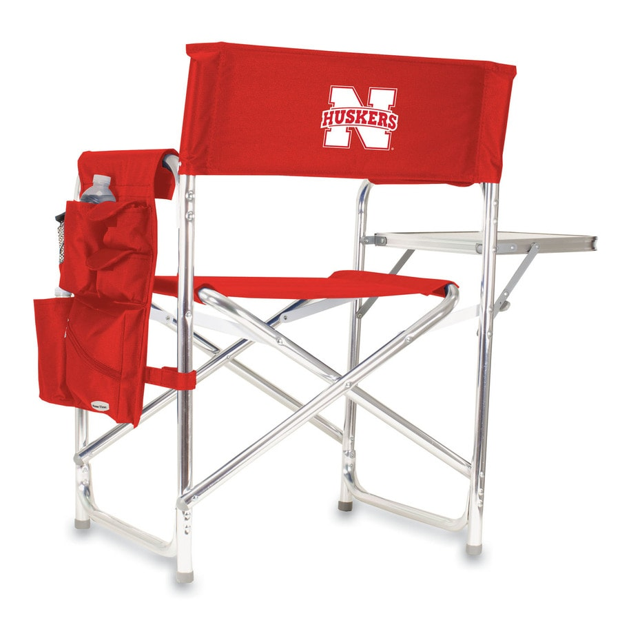 Picnic Time Red NCAA University Of Nebraska–Lincoln Cornhuskers Aluminum Folding Camping Chair