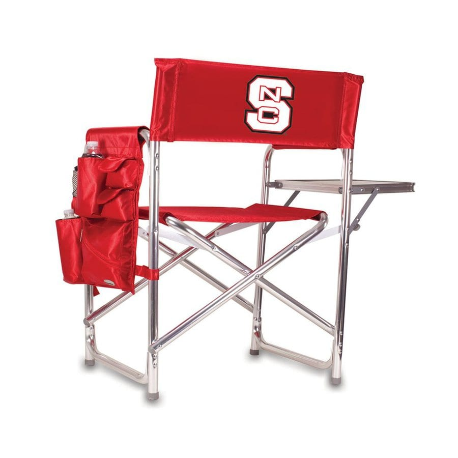 Picnic Time Red NCAA North Carolina State University Wolfpack Aluminum Folding Camping Chair