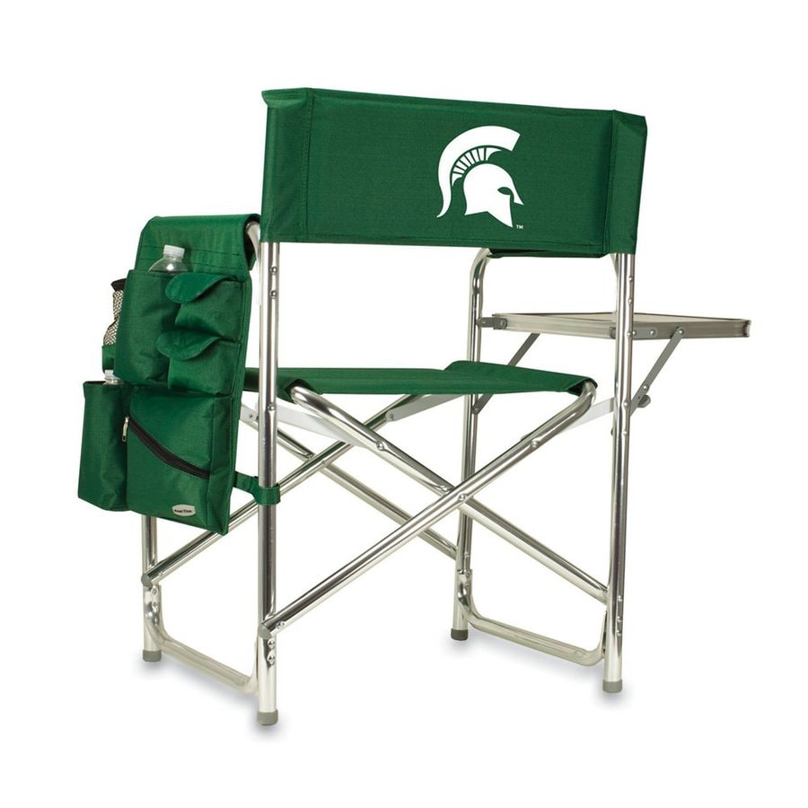 Picnic Time Green NCAA Michigan State Spartans Aluminum Folding Camping Chair