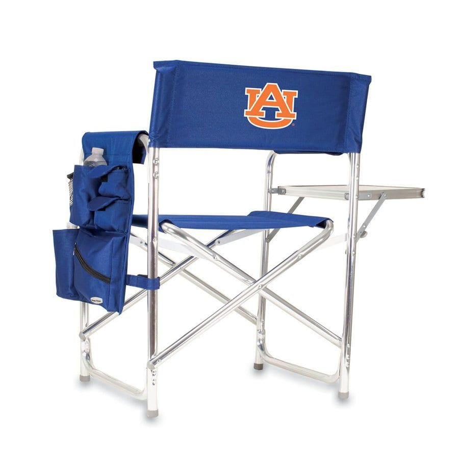 Picnic Time Blue NCAA Auburn University Tigers Aluminum Folding Camping Chair
