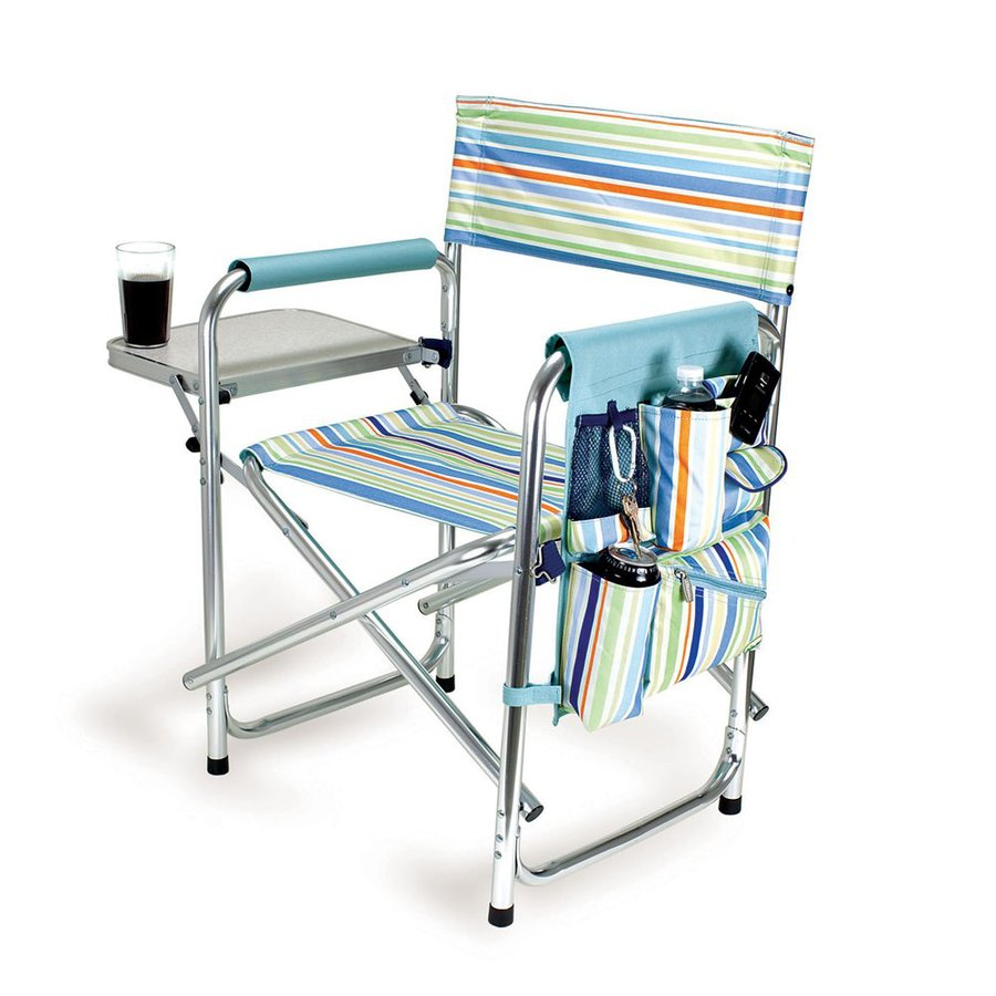 Aluminum folding chair - Picnic Time Aluminum Folding Camping Chair