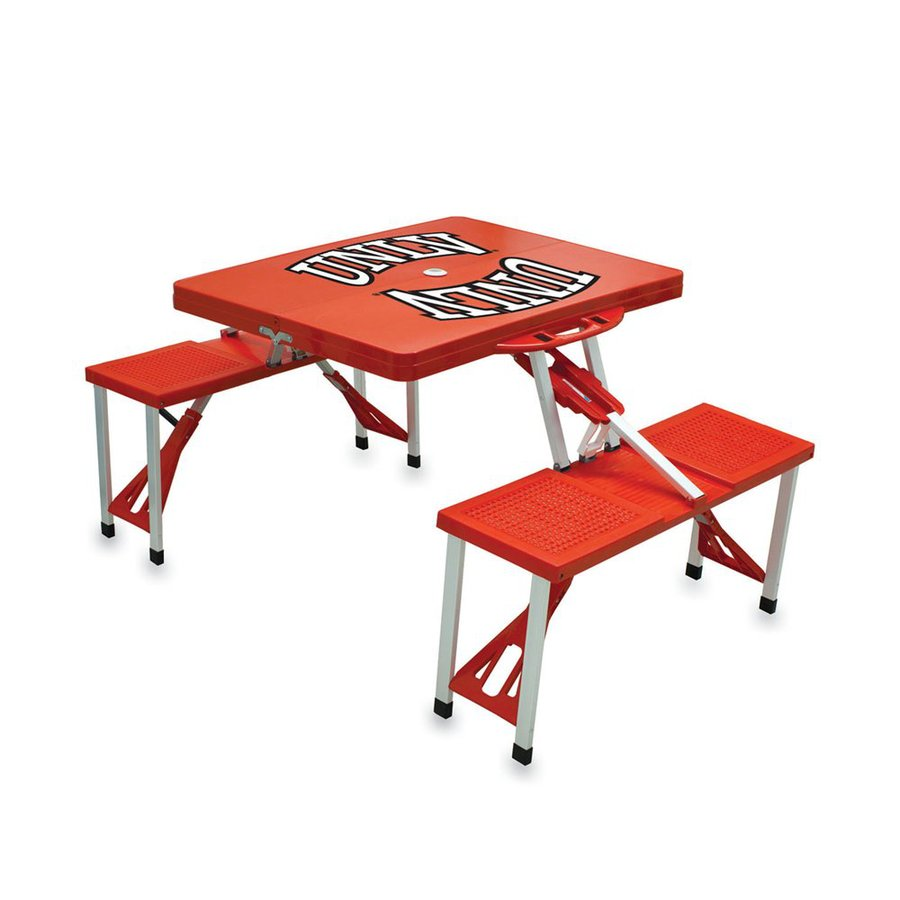 Picnic Time 2-ft 1-4/5-in Red University Of Nevada, Las Vegas Rebels Plastic Square Folding Picnic Table