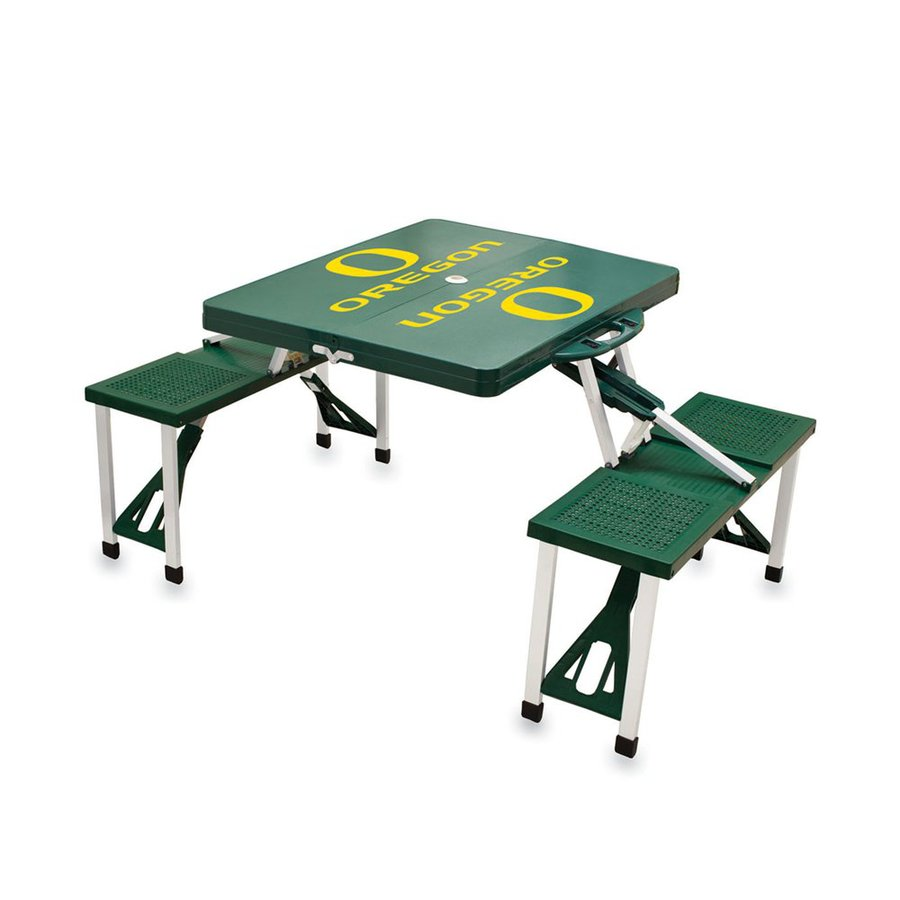 Picnic Time 2-ft 1-4/5-in Green University Of Oregon Ducks Plastic Square Folding Picnic Table