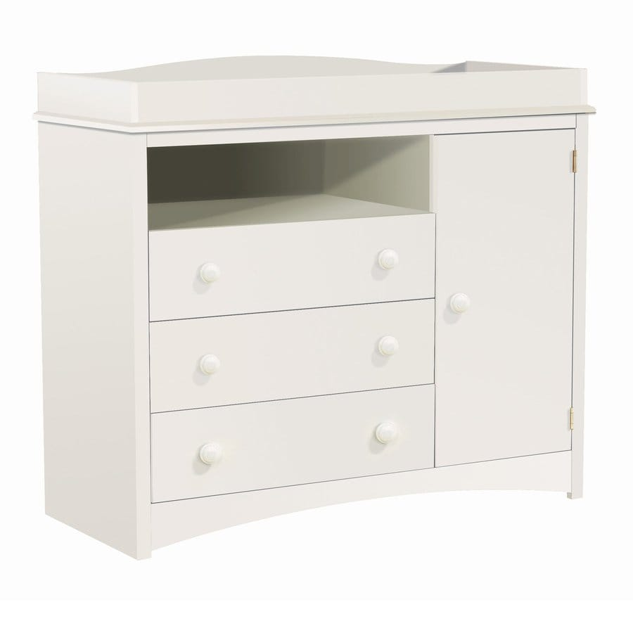 South Shore Furniture 47 In W Pure White Surface Mount Changing Table