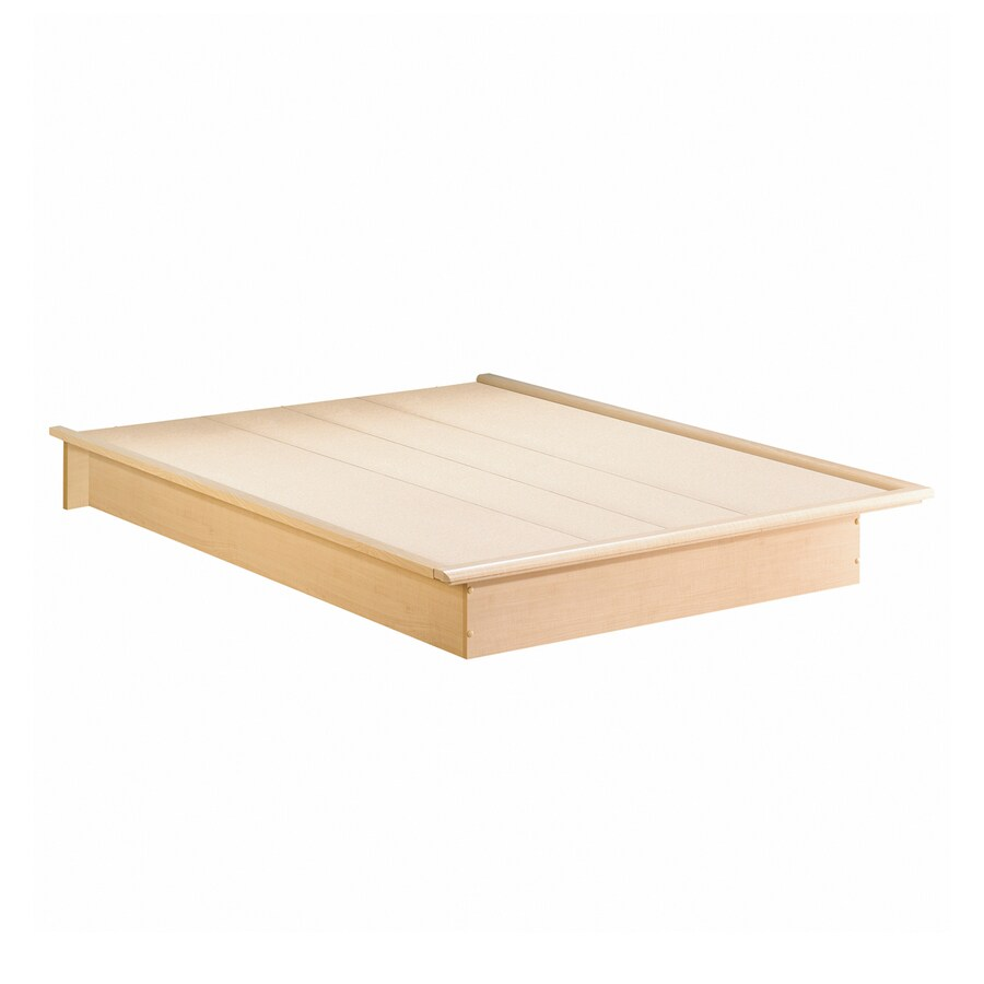 South Shore Furniture Step One Natural Maple Queen Platform Bed