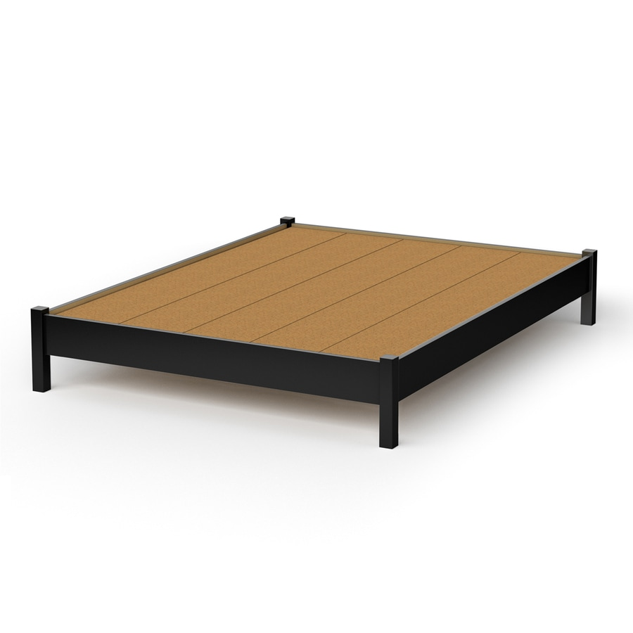 South Shore Furniture Step One Pure Black Queen Platform Bed