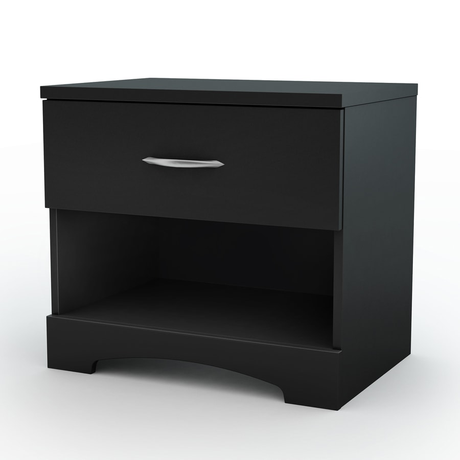 South Shore Furniture Step One Pure Black Nightstand