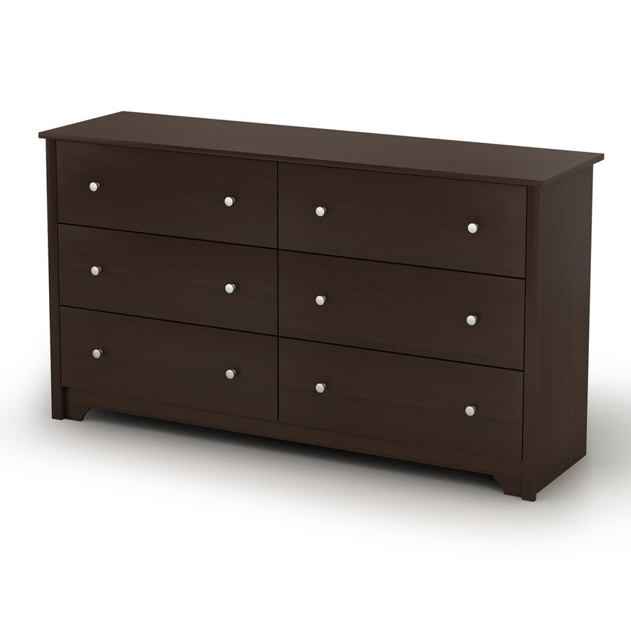 South Shore Furniture Vito Chocolate 6-Drawer Dresser