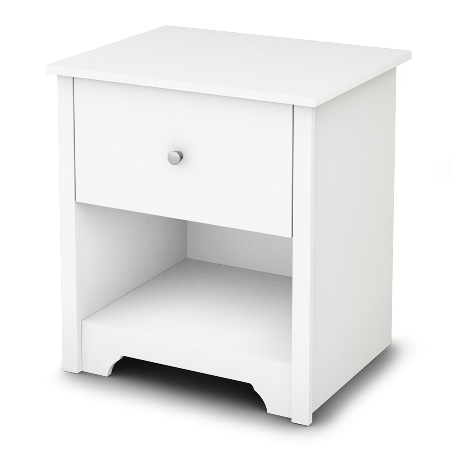 Shop south shore furniture vito pure white nightstand at - Elegant types of nightstands ...