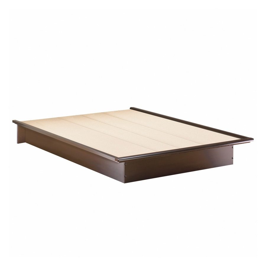 South Shore Furniture Step One Chocolate Queen Platform Bed