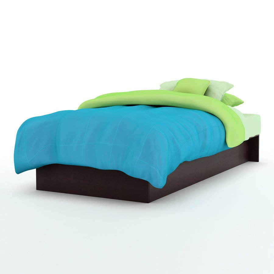 South Shore Furniture Libra Chocolate Twin Platform Bed