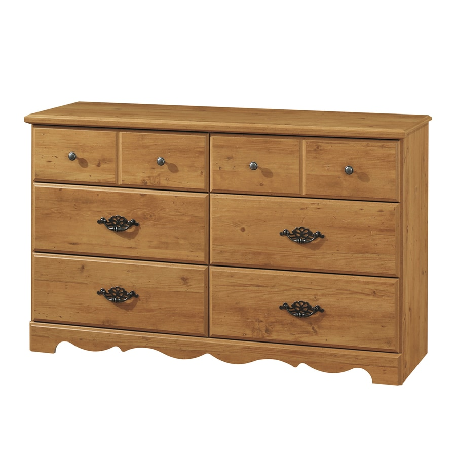 South Shore Furniture Prairie Country Pine 6-Drawer Dresser