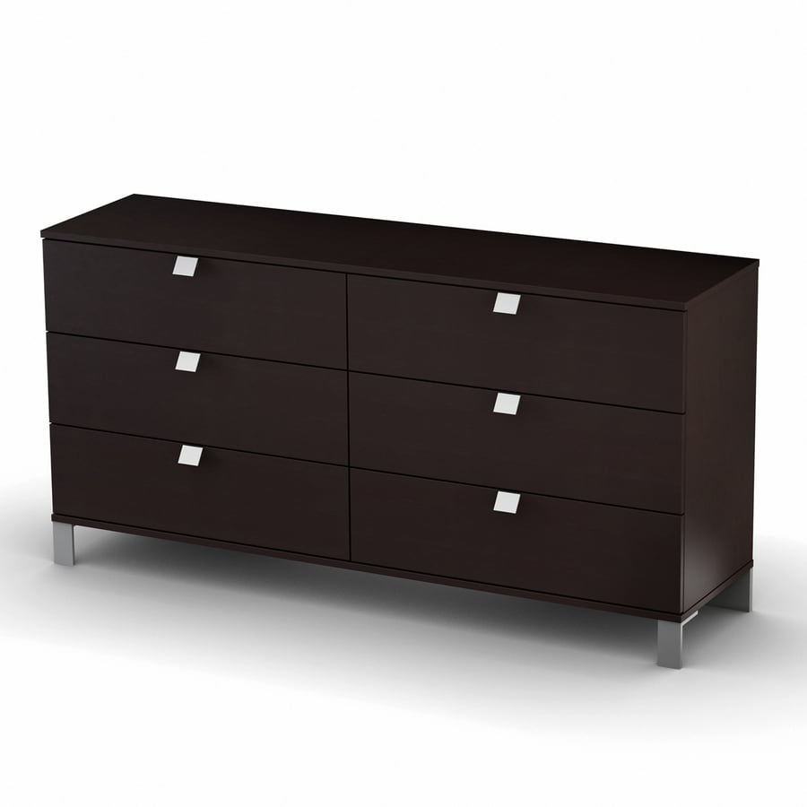 South Shore Furniture Cakao Endless Chocolate 6-Drawer Dresser