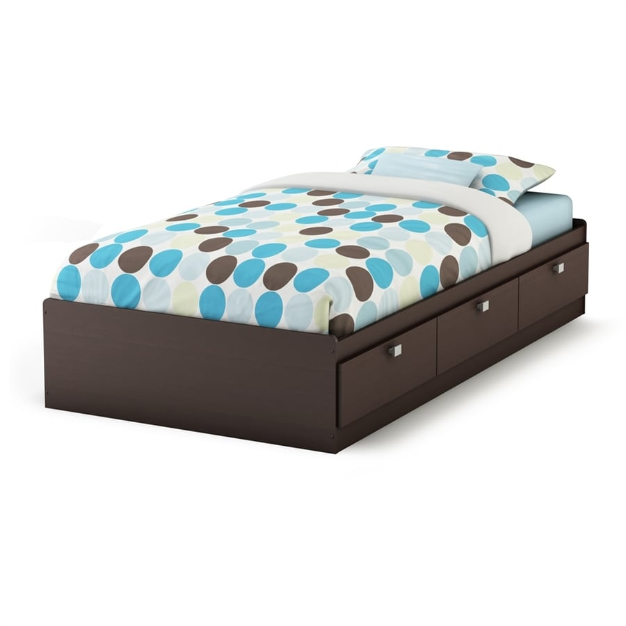 South Shore Furniture Cakao Endless Chocolate Twin Platform Bed with Storage