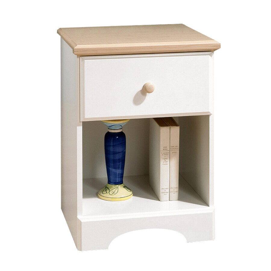 South Shore Furniture Summer Time Pure White/Maple Composite Nightstand