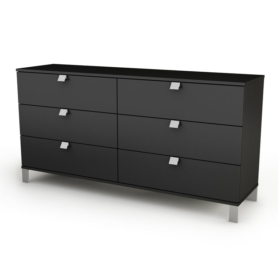 South Shore Furniture Spark Pure Black 6-Drawer Dresser