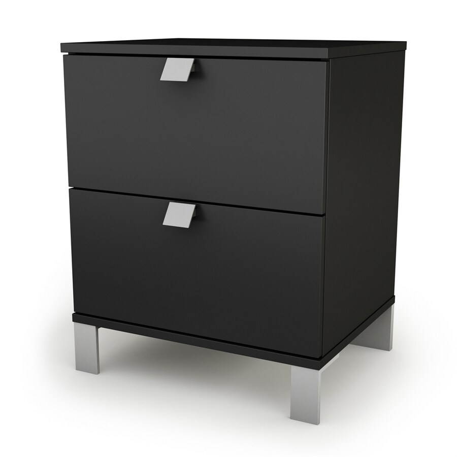 South Shore Furniture Spark Pure Black Composite Nightstand