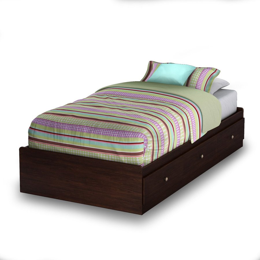 South Shore Furniture Willow Havana Twin Platform Bed with Storage