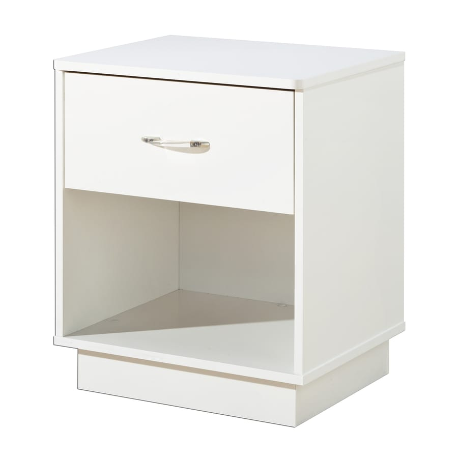 South Shore Furniture Logik Pure White Composite Nightstand