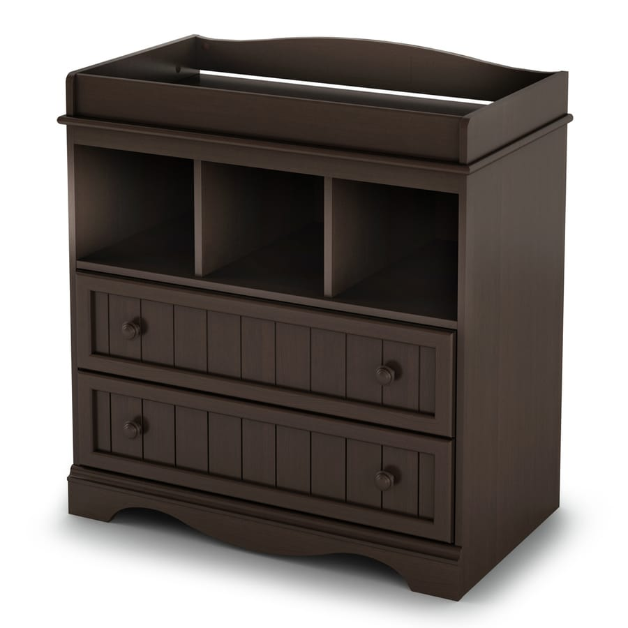 South Shore Furniture 35-in W Espresso Surface-Mount Changing Table