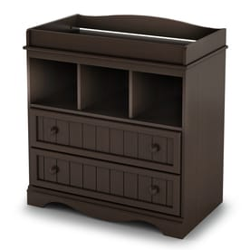 South Shore Furniture 33 In W Espresso Surface Mount Changing Table