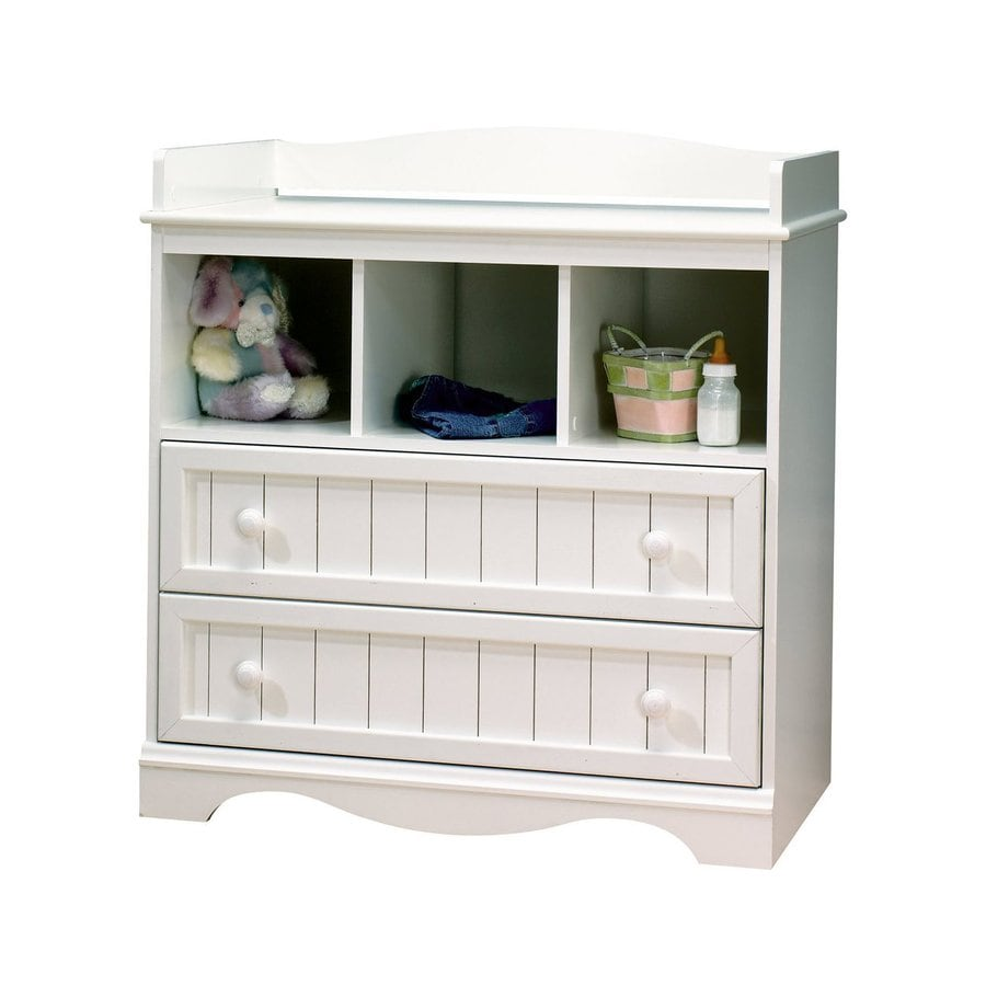South Shore Furniture 35-in W Pure White Surface-Mount Changing Table
