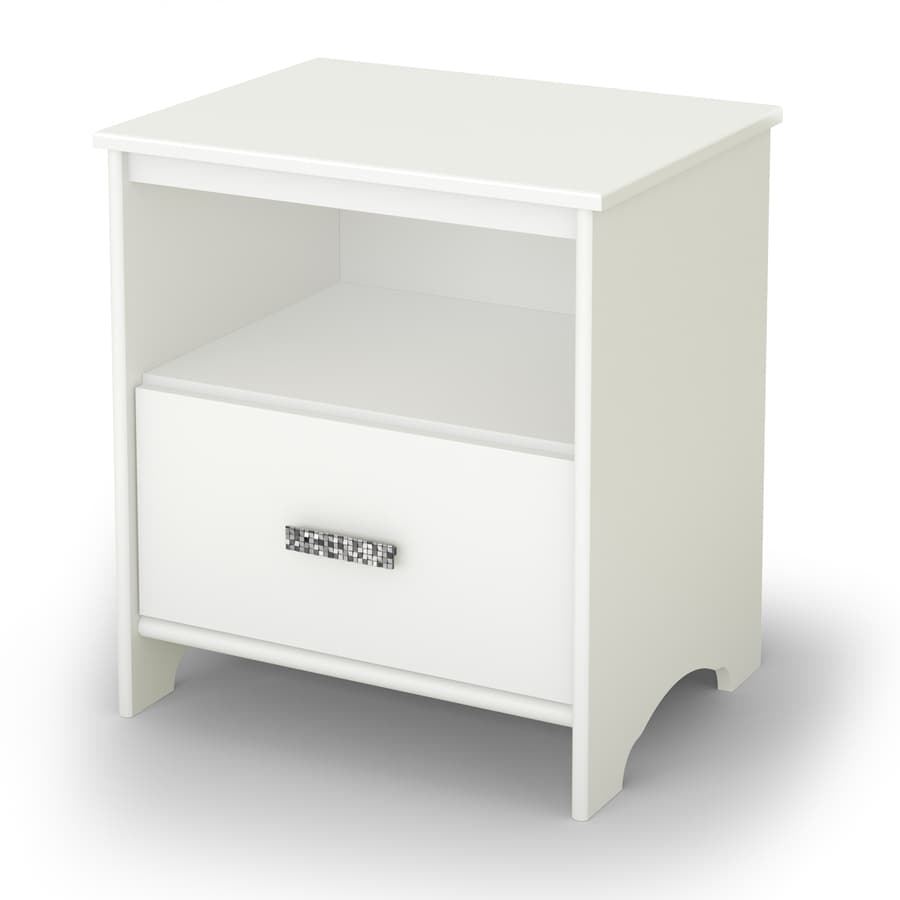 South Shore Furniture Tiara Pure White Composite Nightstand