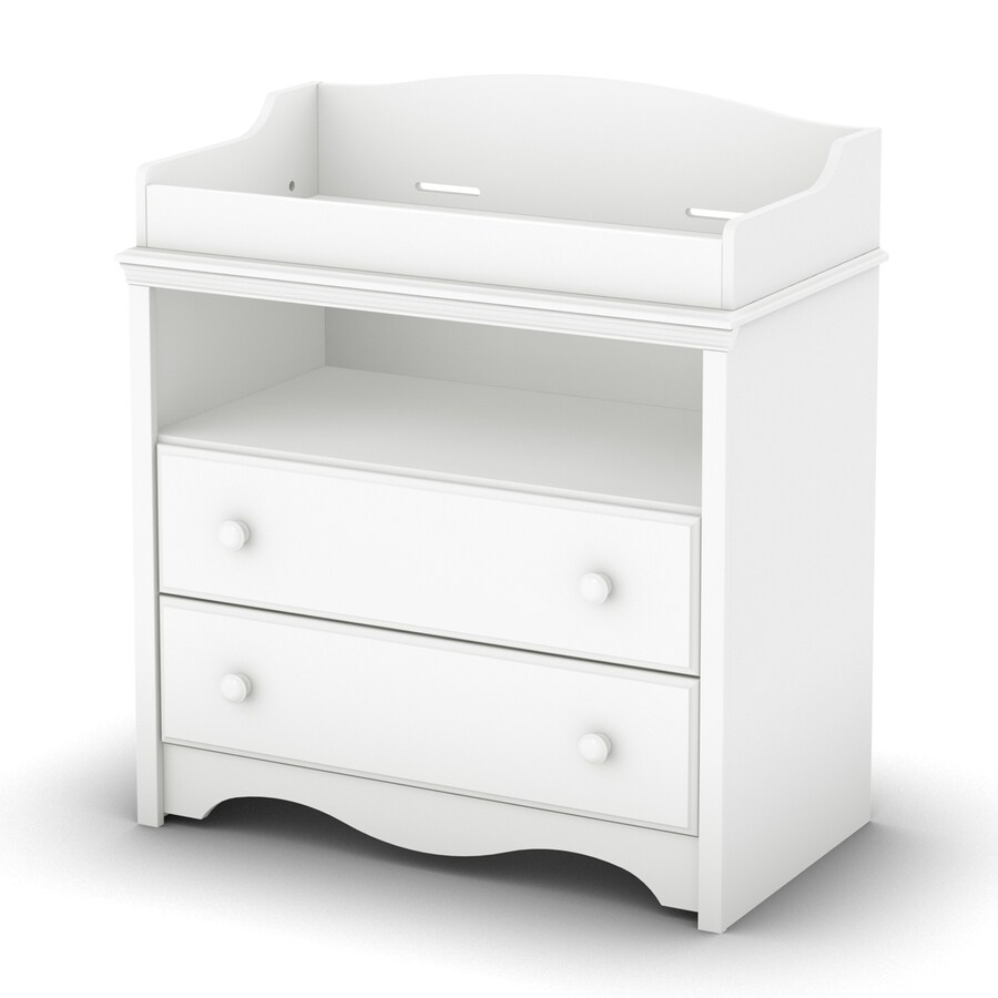 South Shore Furniture 35.5-in W Pure White Surface-Mount Changing Table