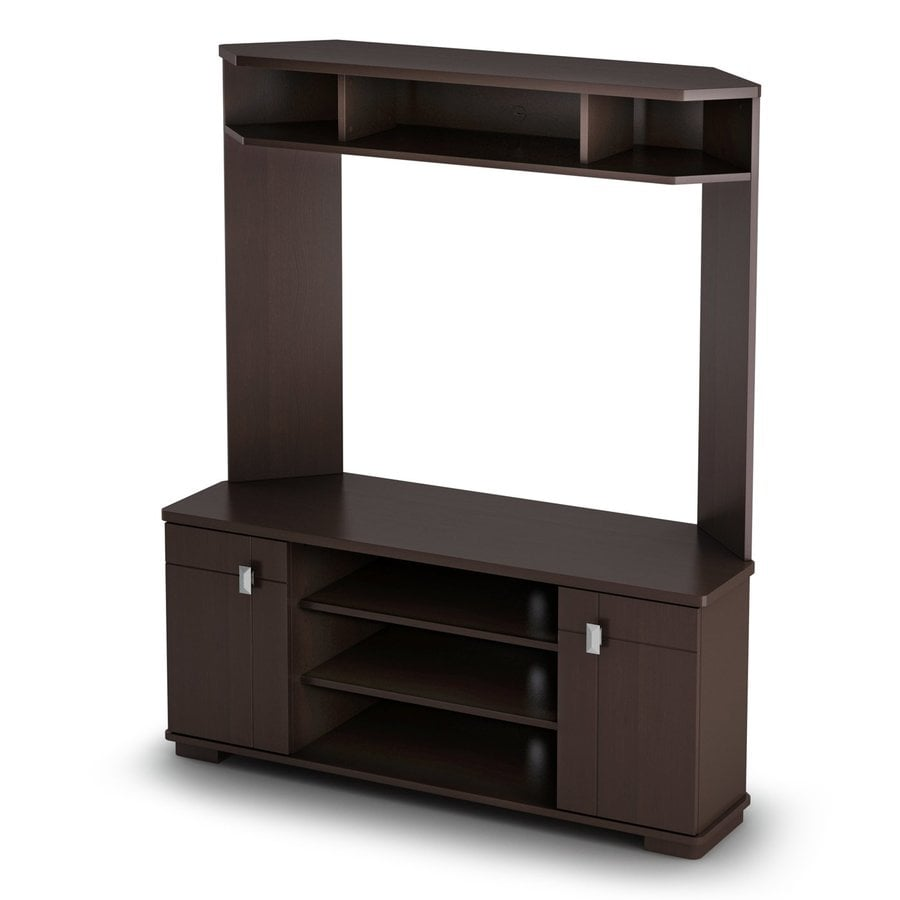 South Shore Furniture Vertex Chocolate Corner TV Stand