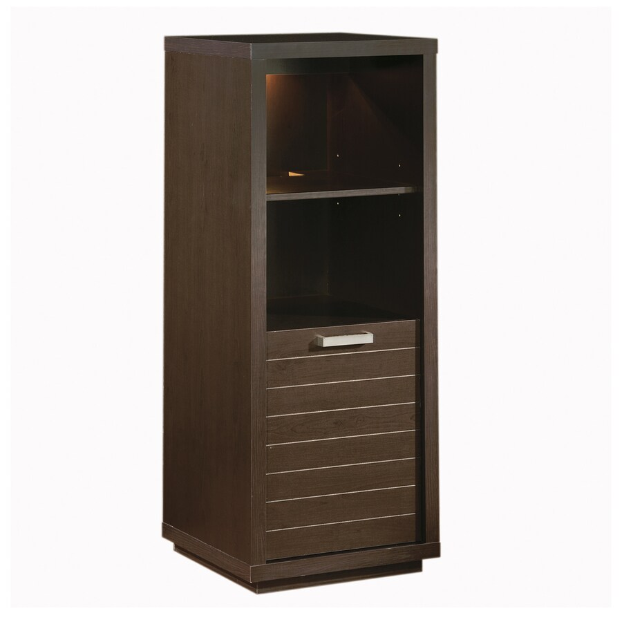 South Shore Furniture Skyline Endless Chocolate 20-in W x 52.25-in H x 19.5-in D 4-Shelf Bookcase