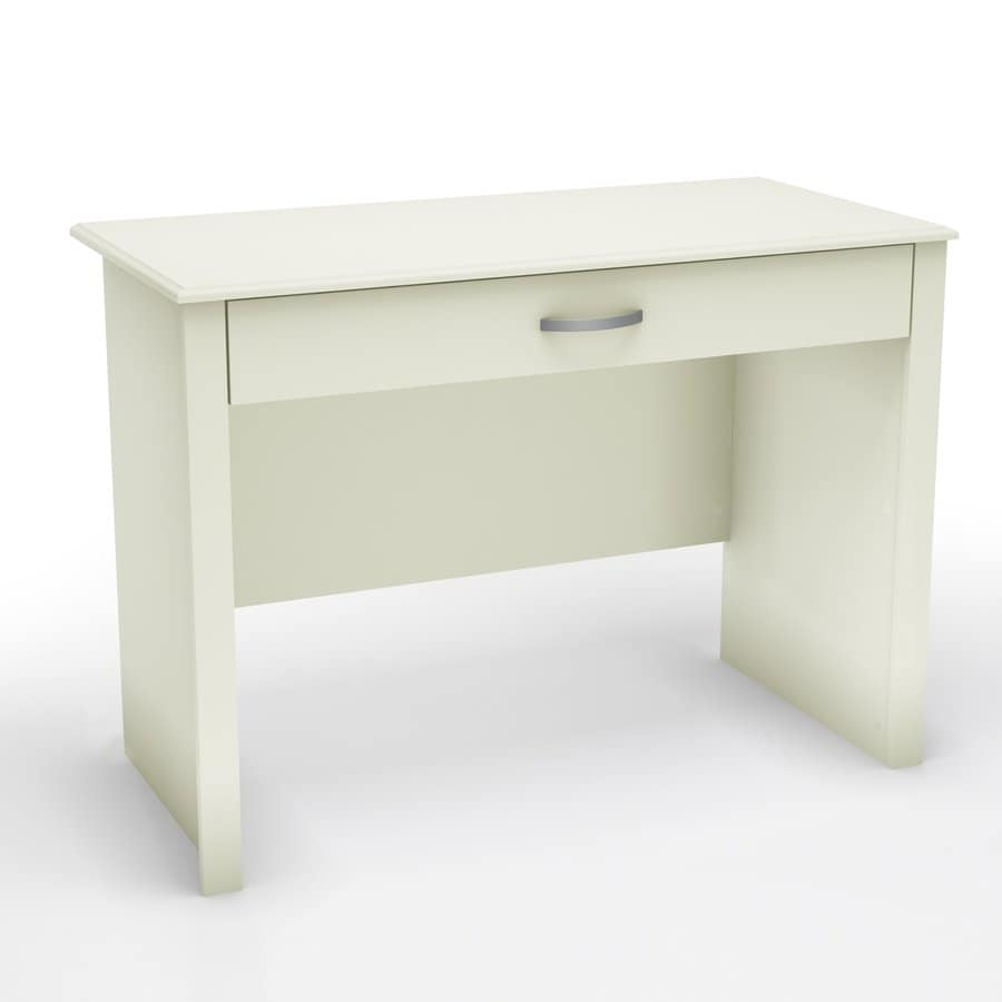 South S Furniture Transitional Pure White Secretary Desk