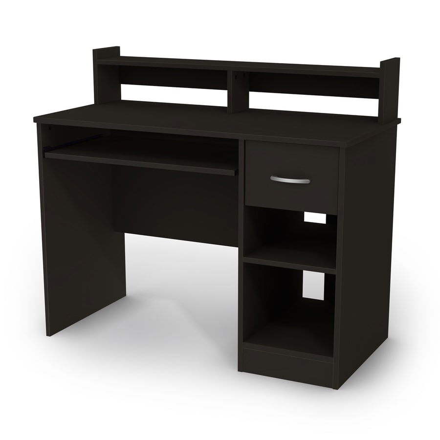 shelves for roll home white desks with top compact desk computer small table black hutch shop office