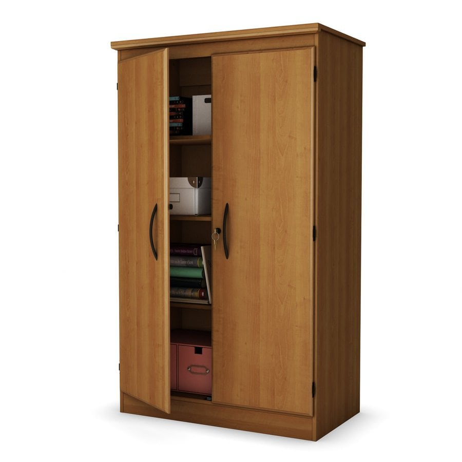 shop south shore furniture morgan cherry 4-shelf office cabinet at