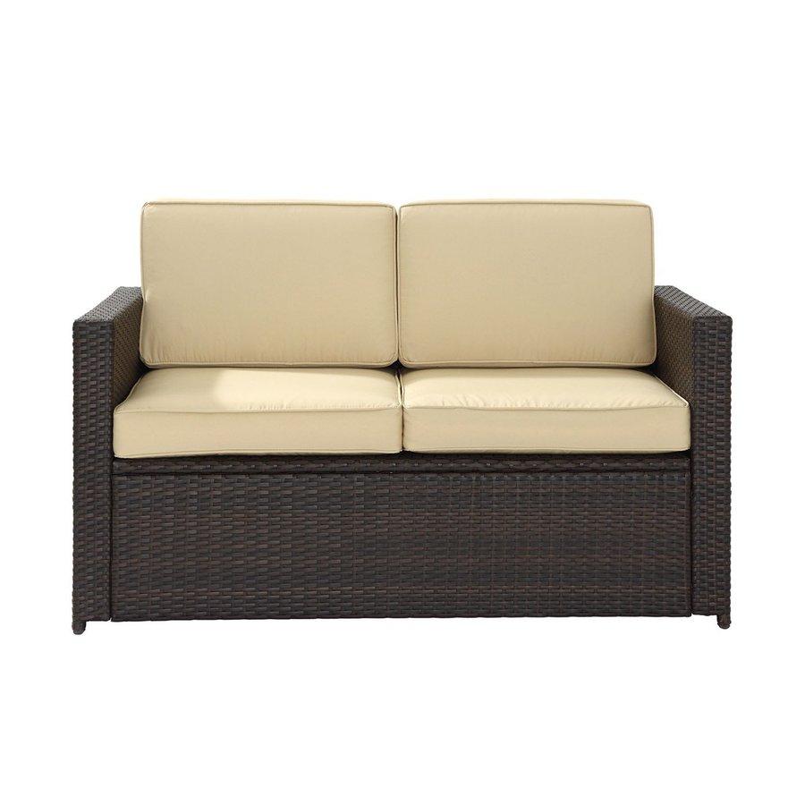 Crosley Furniture Palm Harbor Solid Brown Wicker Loveseat