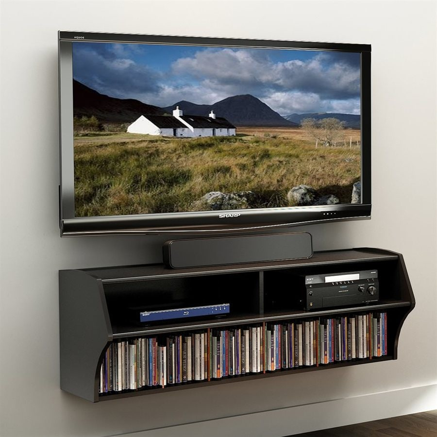 Prepac Furniture Altus Black Wall-Mount TV Stand