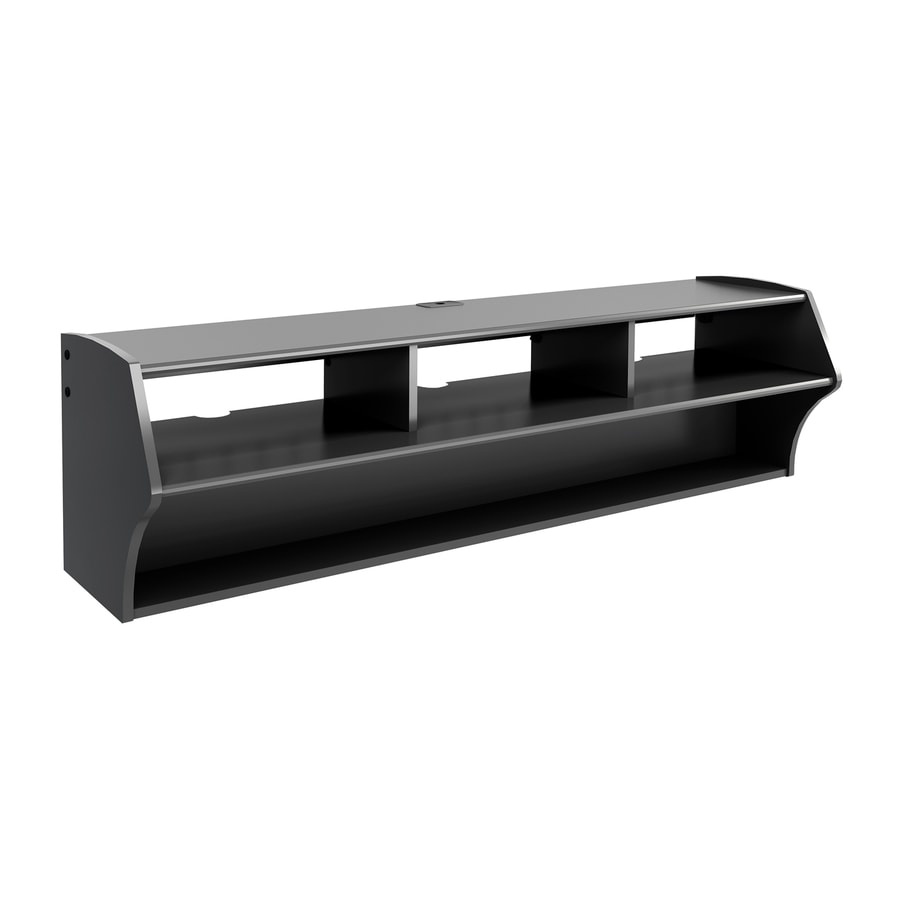 prepac furniture altus black wallmount tv stand