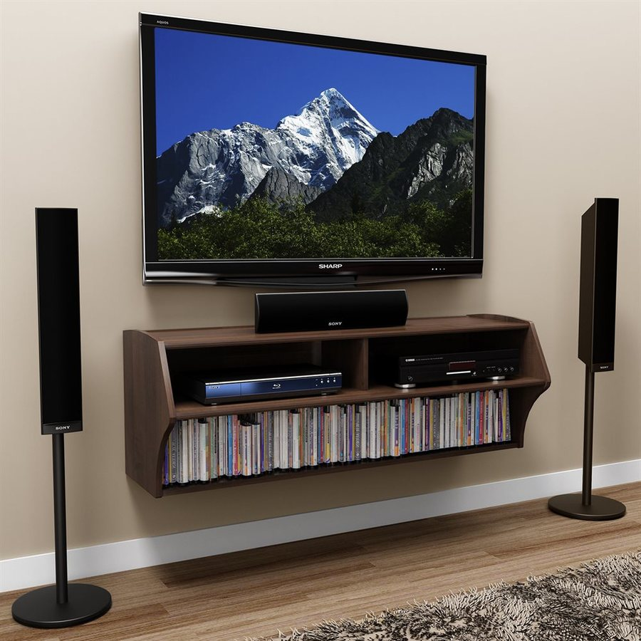 shop prepac furniture altus espresso wall mounted tv stand. Black Bedroom Furniture Sets. Home Design Ideas