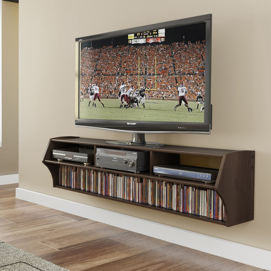 prepac altus espresso wall mounted tv stand at. Black Bedroom Furniture Sets. Home Design Ideas
